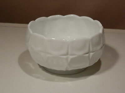 """INDIANA CONSTELLATION MILK GLASS 6"""" OPEN CANDY DISH EXCELLENT"""