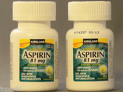 730 ct Generic Low Dose Adult Aspirin 81mg Enteric Safety Coated Sealed New