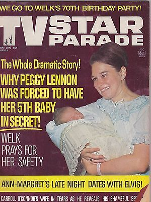 MAY 1973 TV STAR PARADE vintage movie magazine PEGGY LENNON