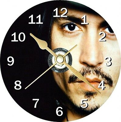 Jonny Depp 2 Novelty Cd Clock Can be personalised