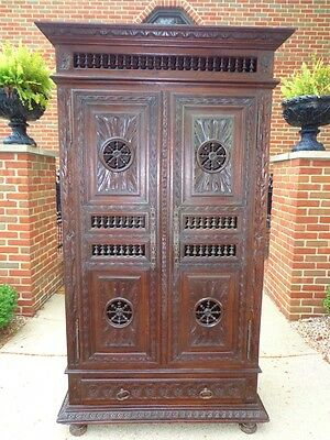 Antique French Provincial Normandy Cabinet Panatiere Reduced