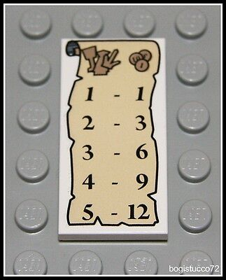Lego Harry Potter x1 Tan Scroll w/ Prices 2x4 Decorated Tile Minifigure NEW