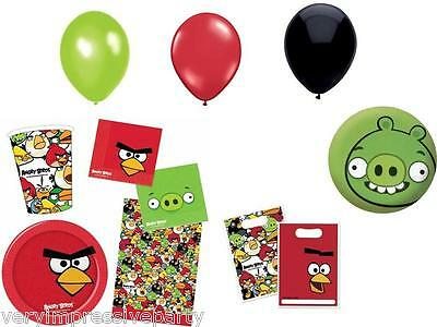 Angry Birds Party Decorations - One List  Napkins cups Plates Tablecover