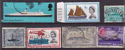 Sea. 1931-1969 Sea Travel .ships.boats  Old Stamps. Mixed.