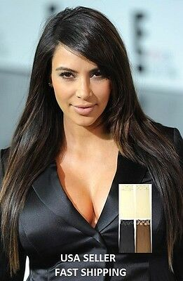 CLIP in HAIR Extensions CLIPIN Kardashian SPEARS Simpson LOHAN Blonde Black RED