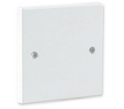 White Single Wall 1 Gang Plug Electric Socket Blanking Plate Cover With Screws