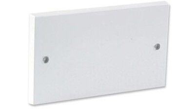White Double Wall 2 Gang Plug Electric Socket Blanking Plate With Screws Cover