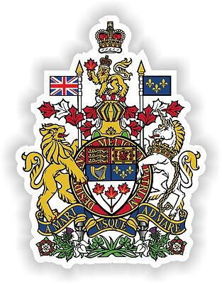 1x Canada coat of arms armoiries STICKER bumper decal flag autocollant auto car