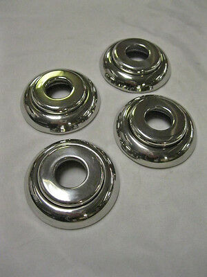 1941 -1948 Ford Passenger Car Stainless Door Window Handle Escutcheons Set (4)