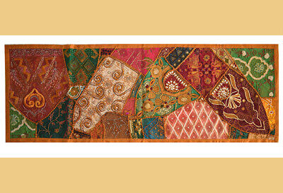 Hand Embroidered Antique Wall Tapestry/throw/runner From India