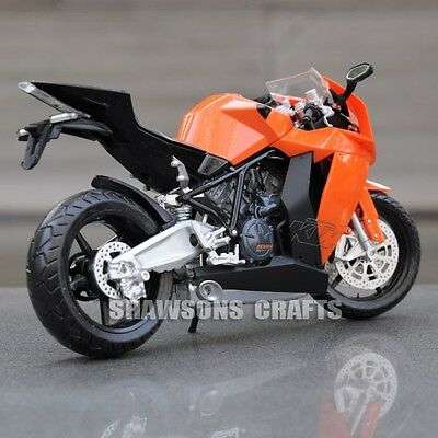 Diecast Motorcycle Model Toys 1:12 Ktm Rc8 Sport Bike Replica
