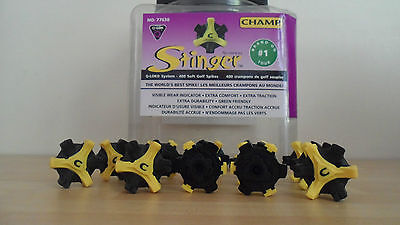 Champ Stinger Q-LOK Cleats (Soft Golf Spikes) x 14 cleats