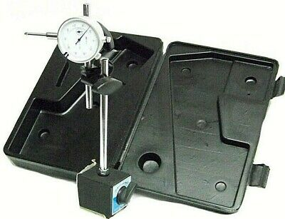 "On Off Magnetic Base With 0 To 1""  Dial Indicator Gauge With Case"