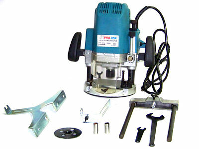 "Electric Plunge router Machine 23000 rpm 1/4"" 3/8"" 1/2"" Collet 1850 w 110 v ATE"