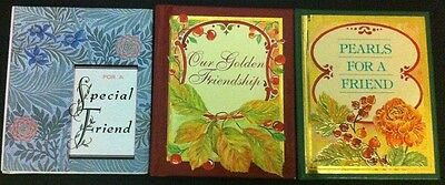3x MINIATURE GIFT BOOKS *Our Golden Friendship *For a Special Friend *Pearls LOT