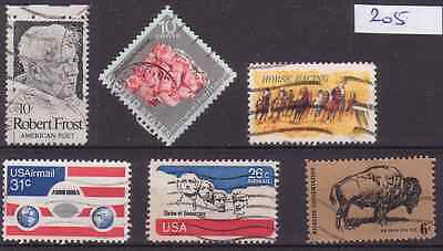 U.s.a. 1970-1976 Collection Of 6 Old Stamps.