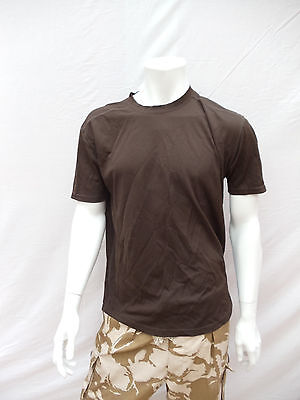 Genuine British Brown Coolmax Wicking T-Shirts New An Used Free Delivery