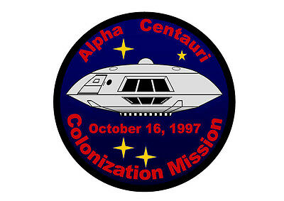 "LOST IN SPACE Jupiter 2 Alpha Centauri Colonization Mission 4.5"" Patch FEW LEFT"