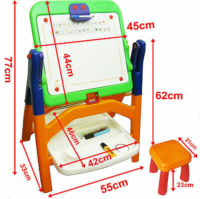 Super Kids Education Drawing Board Easel Learning Tables Children Set Box Toy