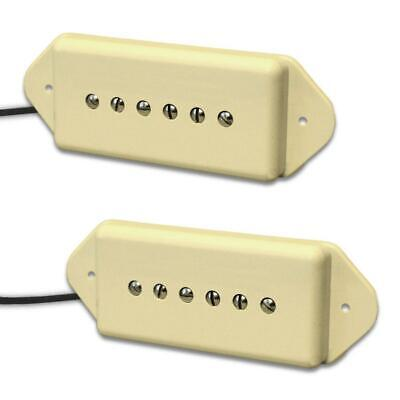 Lindy Fralin P-90 Hum-Cancelling Dogear Pickup Set P90 Cream Covers