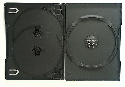 DVD Case 3 Way Side by Side 14mm spine 10 Pack