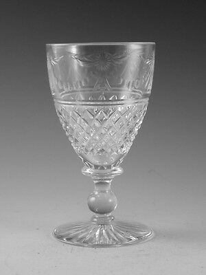 "STUART Crystal - BEACONSFIELD Cut (Old) - Wine Glass / Glasses - 4 1/2"" (2nd)"