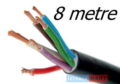 8 Metres of trailer lighting cable 8 core for trailers with reversing lights