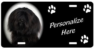 Havanese   black    Personalized      Auto Pet  License Plate