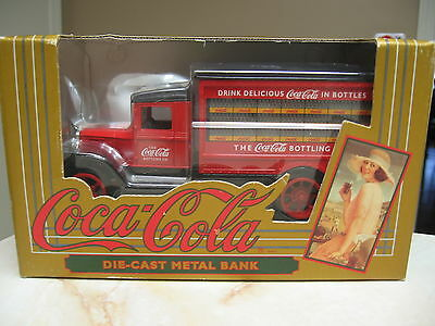 Coca Cola Hawkeye Delivery Truck Die Cast Metal Bank-  Nib 1993 - Ertl