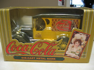 Coca Cola Vintage Chevy Delivery Truck Die Cast Metal Bank-  Nib 1993 - Ertl