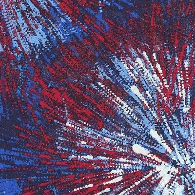 d01fdaead8 USA AMERICA RED WHITE BLUE FIREWORKS Cotton Fabric BTY for Quilting ...