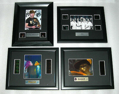 Numbered Framed Filmcell - Music and Movie Memorabilia with COA - Asst - BNIB