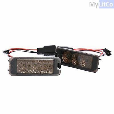 VW Licence Number Plate Light Lamps LED UPGRADE Xenon White No Canbus Error x2