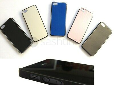 Apple iPhone 5 Durable Stylish Brushed Metal Aluminium Case Cover Black Bumper