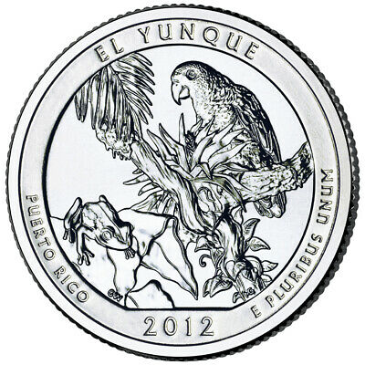 2012 ATB El Yunque National Park PR Quarter San Francisco 'S' Mint Uncirculated