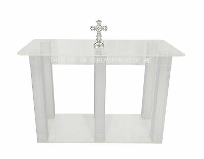 Clear Acrylic Plexiglass Church Communion Table Desk 11461-Glue Version
