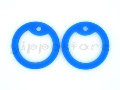4 Blue Silicone Military Army Dog Tag Silencers Rubber Silencer