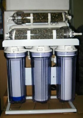 Premier Aquarium Reverse Osmosis Water Filter system 6 stage Booster pump 100 G