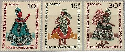 CAMEROUN KAMERUN 1970 627-29 509-11 Doll Puppen Spielzeug Toys in Clothes MNH