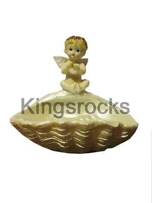 Resin Cherub Sitting on tray Statue 12cm x 11cm x 12cm 276gm