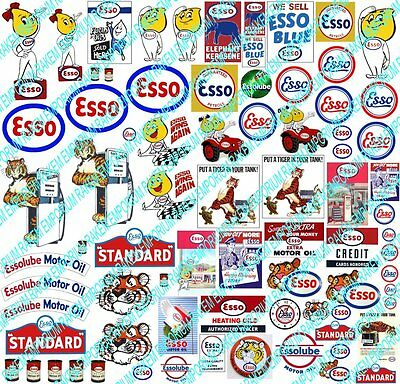 HO Scale Esso Garage 1930's-60's Model Railway Signs 56+ Signs - ESSO1