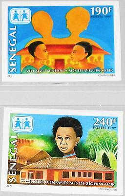 SENEGAL 1998 1529-30 U 1298-99 imperf SOS Children´s Village Kinderdorf MNH