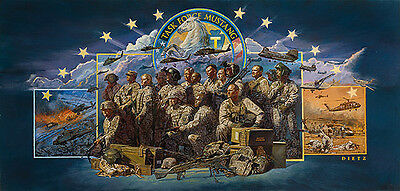 """/""""We Build Seabees We Fight/"""" James Dietz Limited Edition Print"""