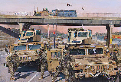 """Highway to Freedom"" James Dietz Artist Proof - 3-73 CAV Squadron, Iraq 2007"
