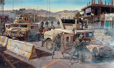 """On Any Given Day"" James Dietz Artist Proof -  82nd Airborne, 505th PIR, Iraq"