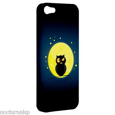 NEW iPhone 5 Hard Shell Case Plastic Cover Night Owl Moon