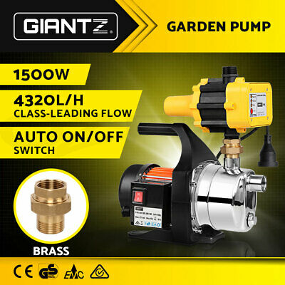 WEATHERPROOF 1500W Auto High Pressure Garden Water Pump Tank Rain Irrigation