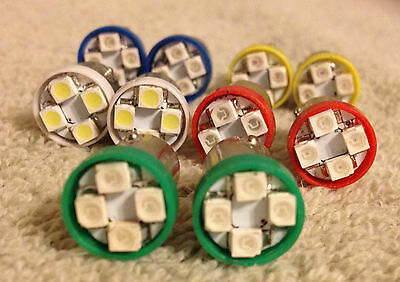 10 Asst Fits BMW BRIGHT 12V LED Instrument Panel BA9S 1815 Light Bulb Lamp 1895
