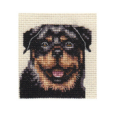 ROTTWEILER dog, puppy ~ Full counted cross stitch kit, all materials