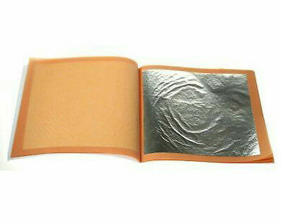 24ct Edible Silver Leaf 10 sheets